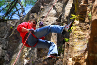 Rappelling at Backbone Rock
